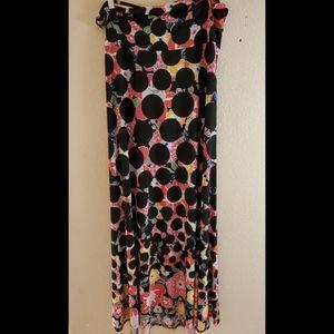 LuLaRoe XL Maxi Floral Boho Skirt